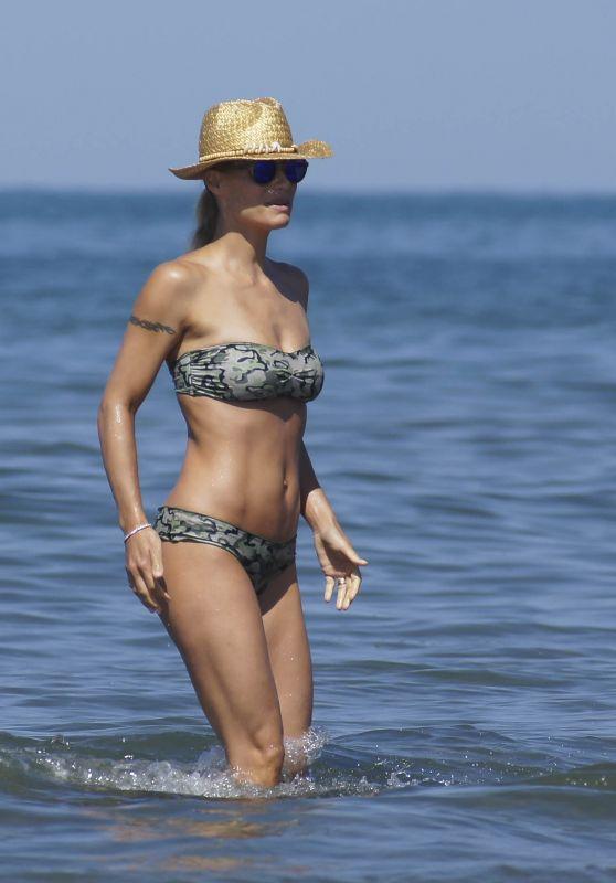 Michelle Hunziker in a Bikini in Forte dei Marmi, July 2015