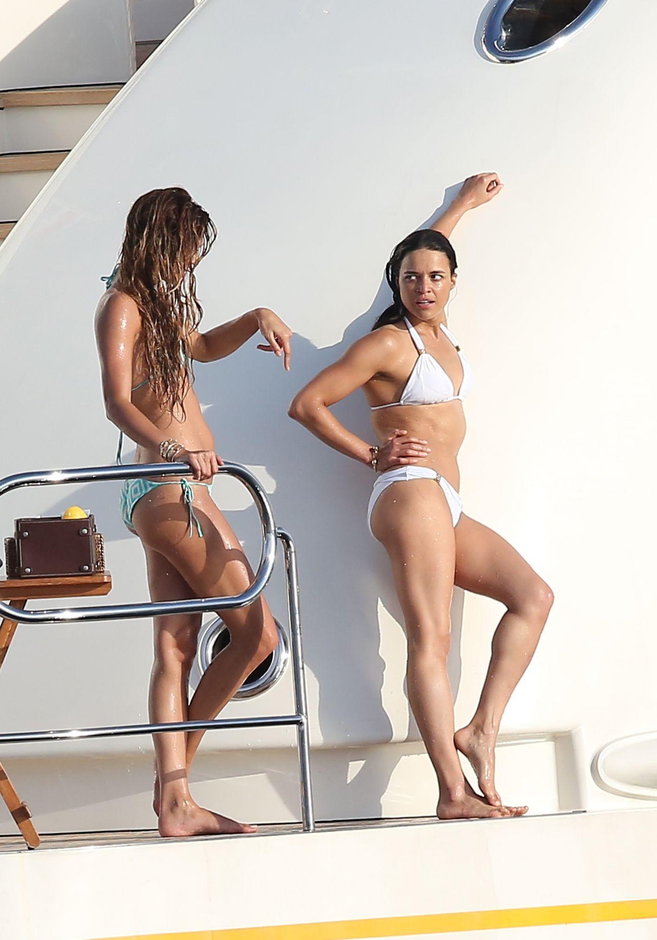Michelle Rodriguez In A Bikini In St Tropez July 2015