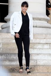 Michelle Rodriguez - Versace Fashion Show in Paris, July 2015
