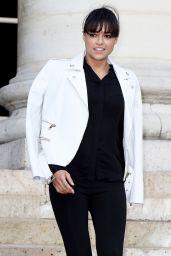 Michelle Rodriguez - Versace Fashion Show in Paris, July 2015