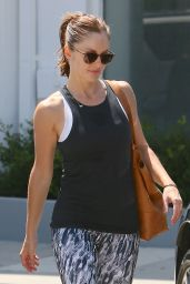Minka Kelly in Leggings at a Gym in West Hollywood, July 2015