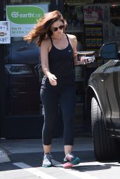 Minka Kelly in Leggings - Leaving the Earth Bar in Los Angeles, July 2015