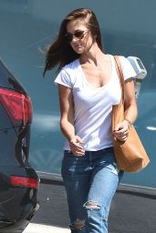 Minka Kelly in RIpped Jeans - Out and About in West Hollywood, July 2015