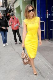 Myleene Klass Style - Arrives at Global Radio in London, July 2015