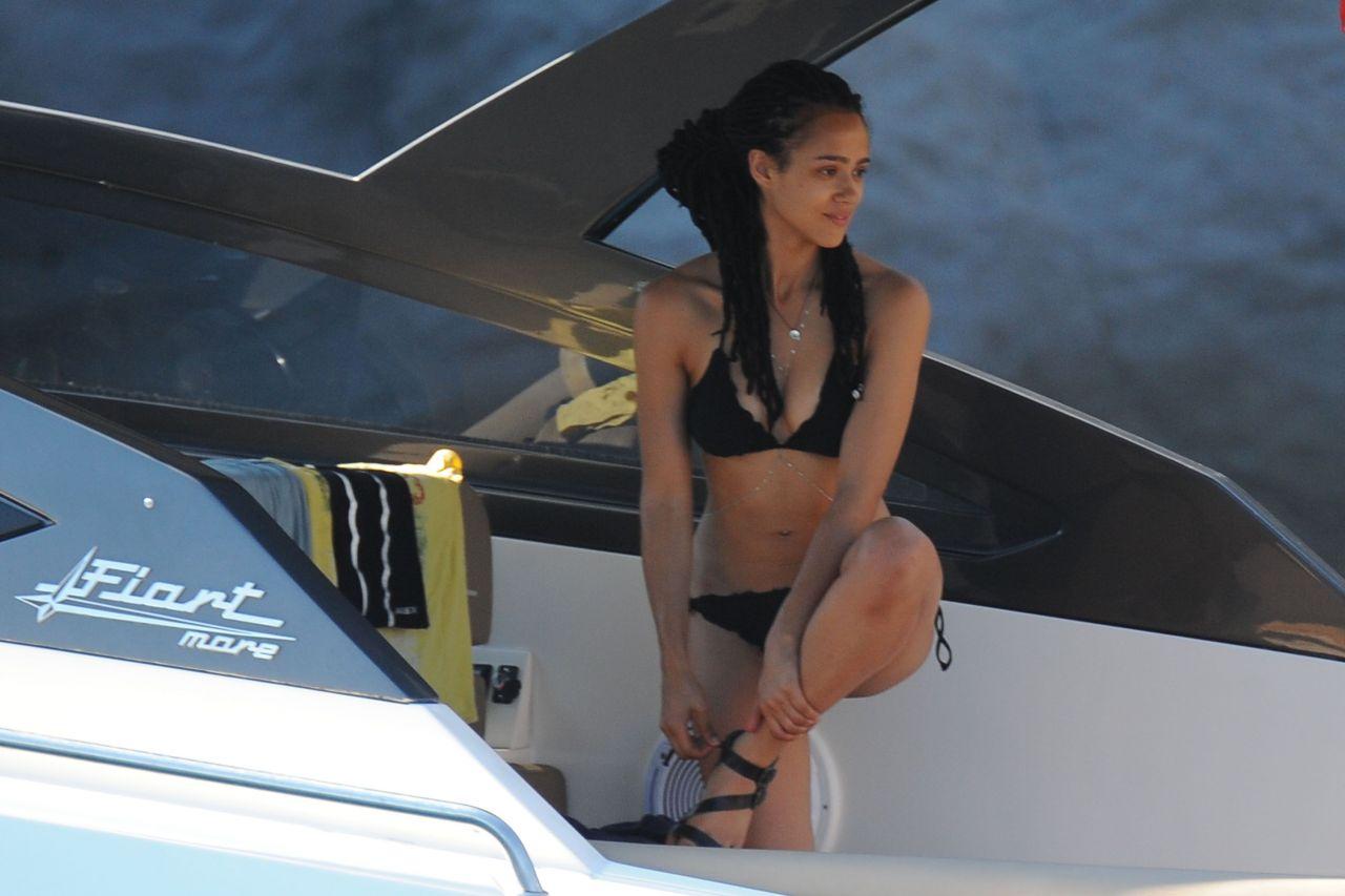 Nathalie Emmanuel In A Bikini In Ischia July 2015