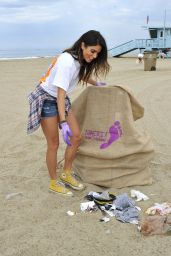 Nikki Reed - Barefoot Wine Beach Rescue Project at the Santa Monica Pier, July 2015