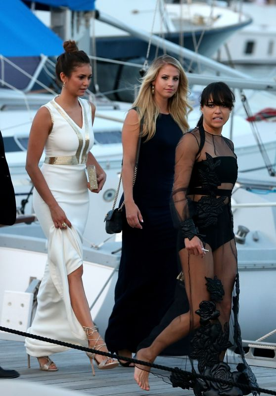 Nina Dobrev and Michelle Rodriguez - Out in St Tropez, July 2015