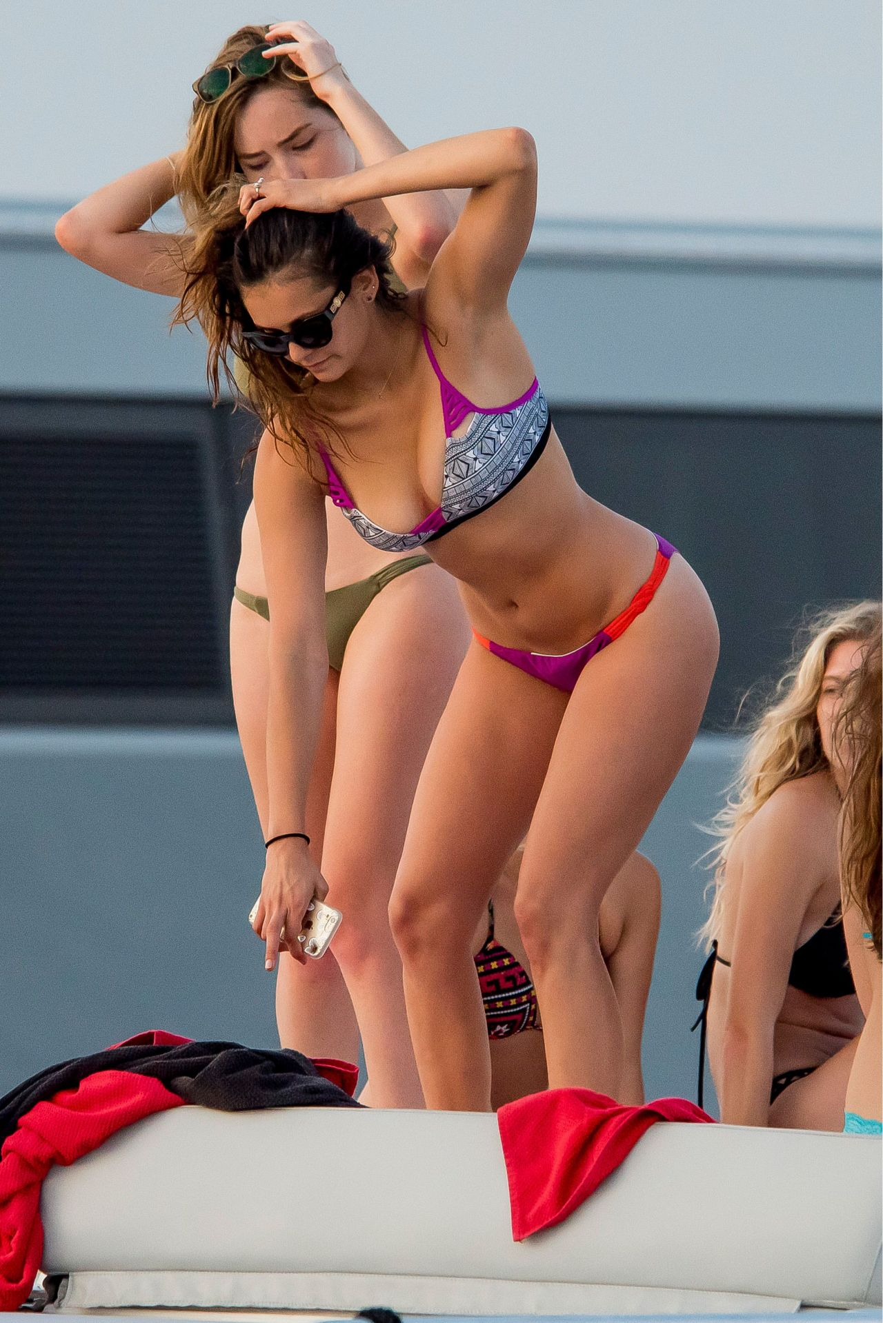 Nina Dobrev Hot In Bikini On A Boat In St Tropez July 2015