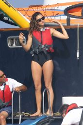Nina Dobrev in a Swimsuit in St Tropez, July 2015