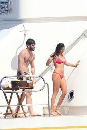 Nina Dobrev in Red Bikini (more pics) – St Tropez, July 2015