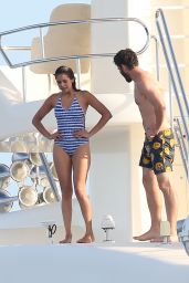 Nina Dobrev in Swimsuit - Saint-Tropez, July 2015