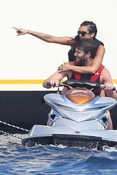 Nina Dobrev - Jet Skiing in Saint Tropez, July 2015