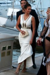Nina Dobrev Summer Style - Out in St Tropez, July 2015