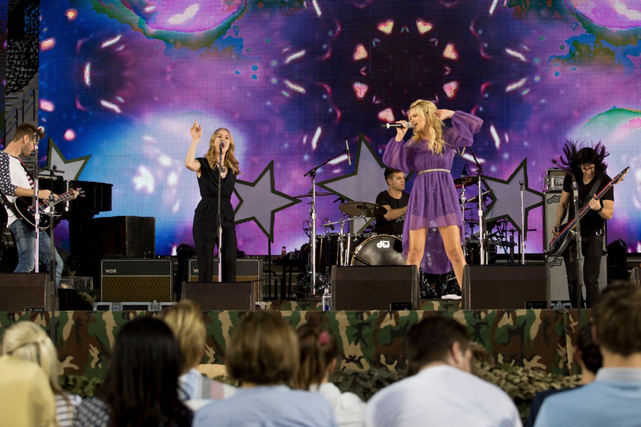 Olivia Holt Performing At Stadium Of Fire Concert In Provo