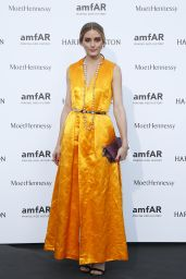 Olivia Palermo on Red Carpet – amfAR Dinner in Paris, July 2015