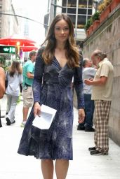 Olivia Wilde On the Set of an Untitled HBO Series, New York City, July 2015