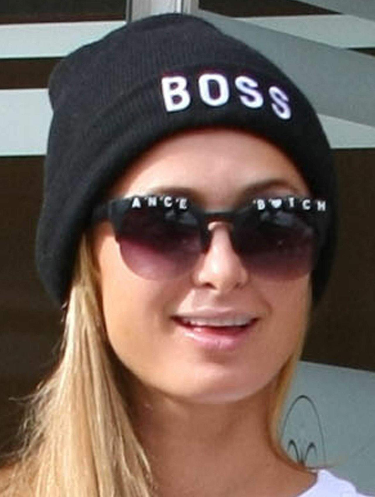 Paris Hilton Leaving The Anastasia Salon In Beverly Hils