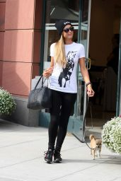 Paris Hilton Leaving the Anastasia Salon in Beverly Hils - July 2015