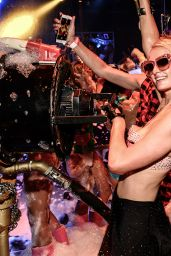 Paris Hilton - Opening Foam and Diamonds Event at Amnesia in Ibiza, July 2015