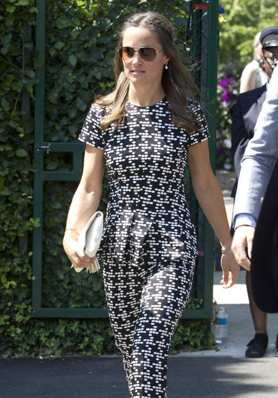 Pippa Middleton Summer Style - Championships at Wimbledon 2015