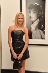 Pixie Lott in Leather Mini Dress - Vistis National Portrait Gallery in London