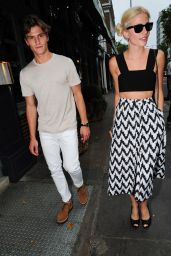 Pixie Lott Style - Leaving The Ivy Restaurant in London, July 2015