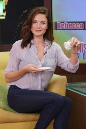 Rebecca Ferguson - On Set of Despierta America in Miami, July 2015