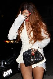 Rihanna Night Out Style - Outside Giorgio Baldi Restaurant in Santa Monica, July 2015