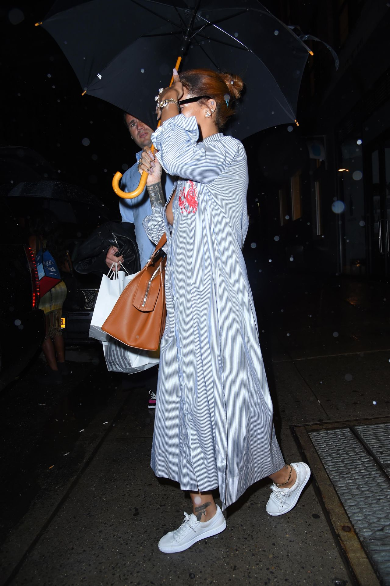 Rihanna Out In New York City July 2015