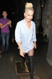 Rita Ora Casual Style - Out in London, July 2015