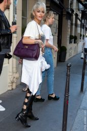 Rita Ora Street Fashion - Out in Paris, July 2015