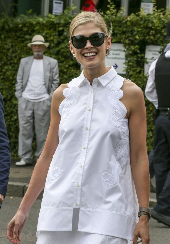 Rosamund Pike - Wimbledon Lawn Tennis Championships in London, July 2015