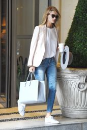 Rosie Huntington-Whiteley Casual Style - Leaving Her Hotel in London, July 2015