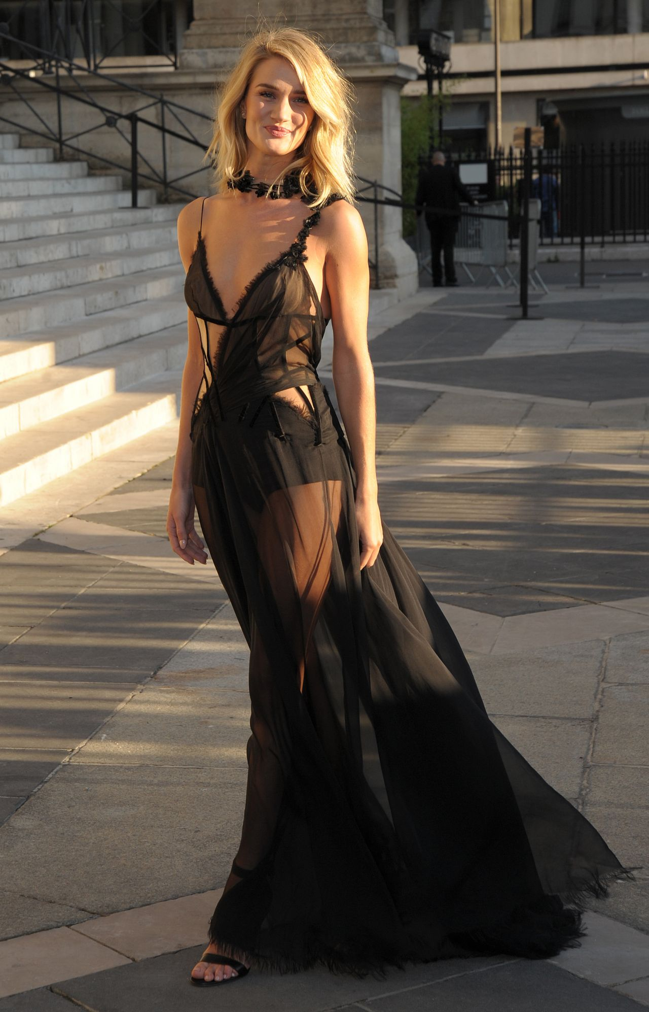 Rosie Huntington Whiteley Style Atelier Versace Show At