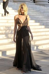 Rosie Huntington-Whiteley Style - Atelier Versace Show at Paris Fashion Week, July 2015