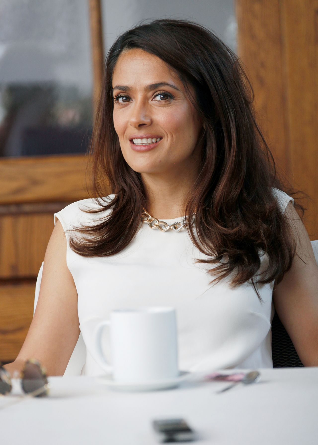 Salma Hayek The Prophet Press Conference Portraits