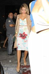 Sarah Hyland Night Out Style - Leaving Bootsy Bellows in Hollywood, July 2015