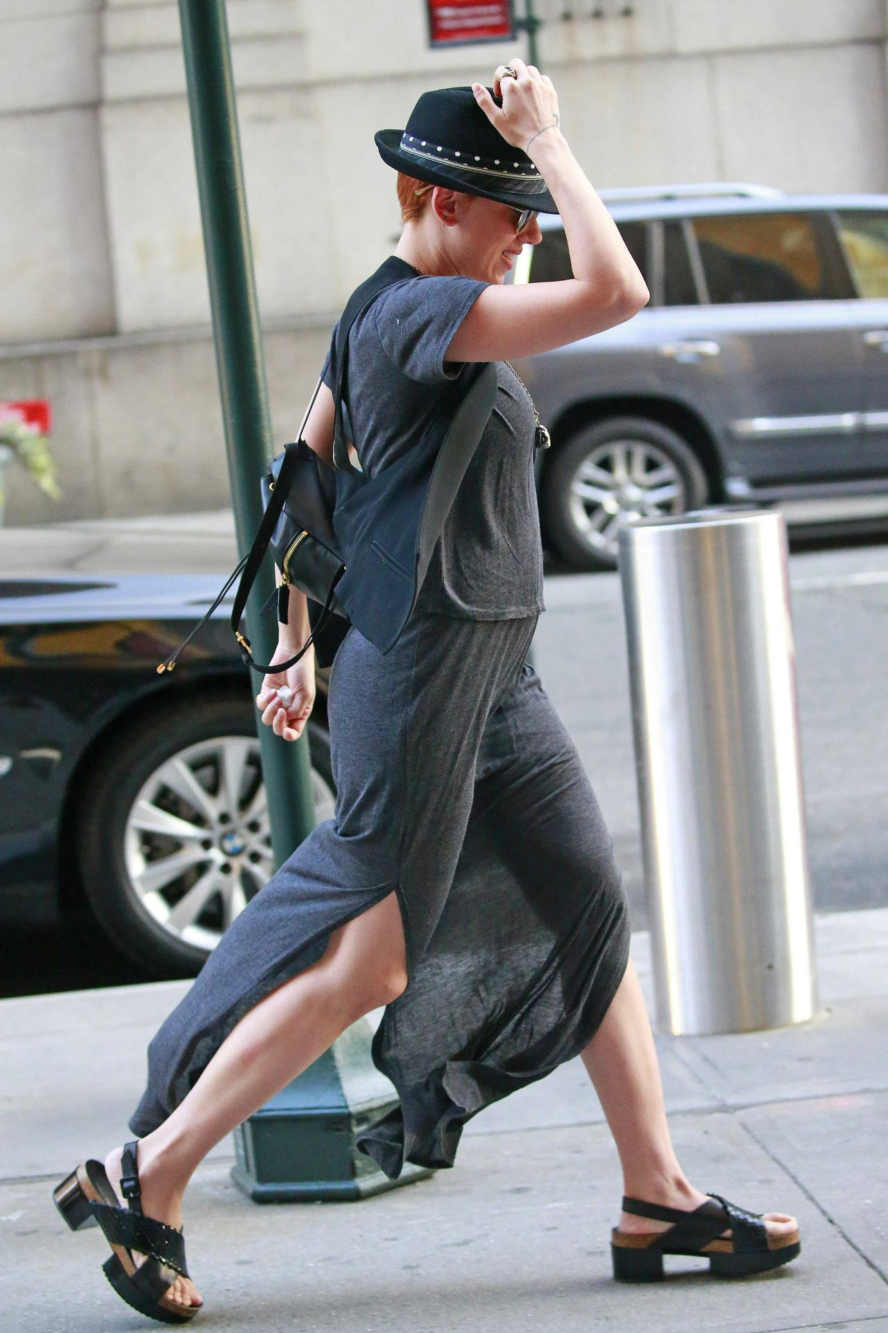 Scarlett Johansson Street Style Out And About In New York City July 2015