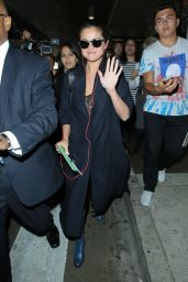 Selena Gomez - Arriving at LAX Airport in Los Angeles - July 2015