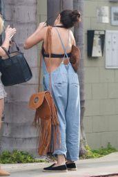 Selena Gomez in Bikini Top and Overalls - Venice, June 2015