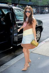 Shiri Appleby - Outside PIX11 Morning News Studio in NYC, July 2015
