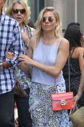 Sienna Miller Summer Style - Out in SoHo, NYC, July 2015