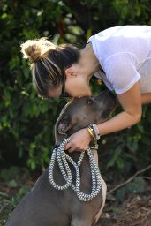 Sophia Bush Walking her Dog in Los Angeles, July 2015