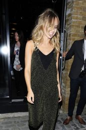 Suki Waterhouse Night Out Style - London, July 2015