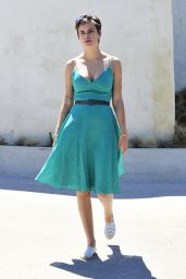 Tallulah Willis Summer Style - Leaving a Friends House in Malibu, July 2015