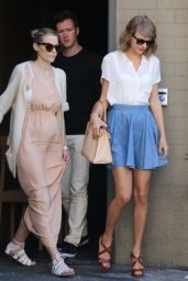 Taylor Swift Steet Fashion - Leaving Sugarfish Sushi Restaurant in Beverly Hills, July 2015