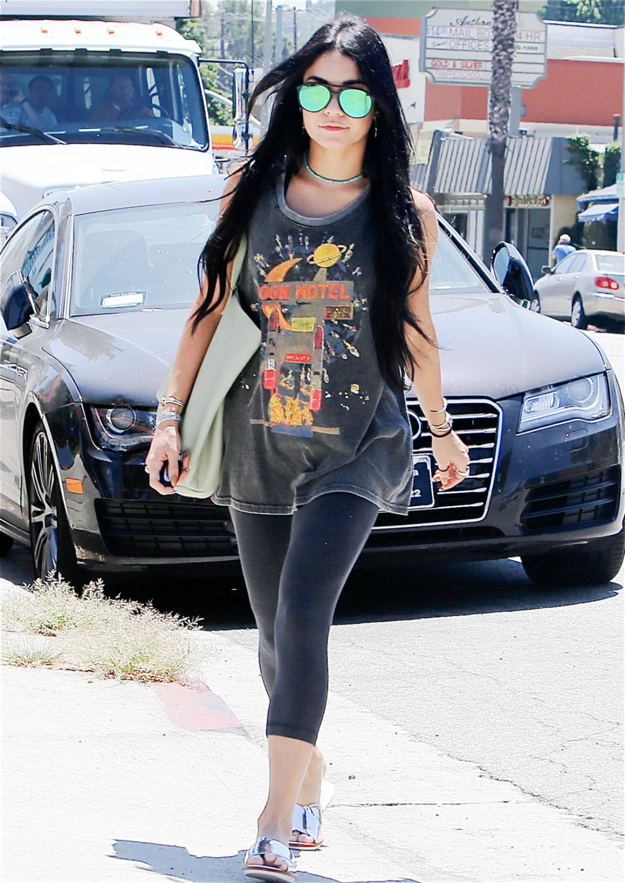Vanessa Hudgens Casual Style Out In Studio City July 2015