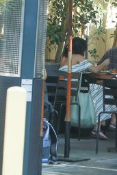 Vanessa Hudgens Having Lunch in West Hollywood, Street Style, July 2015