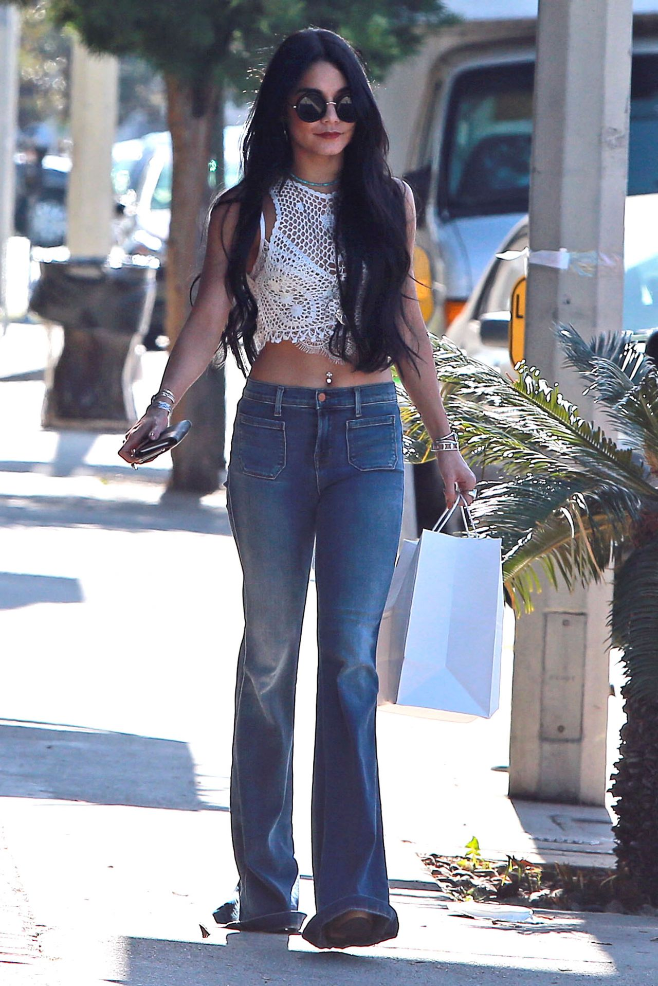 Vanessa Hudgens Street Style Out In West Hollywood July 2015