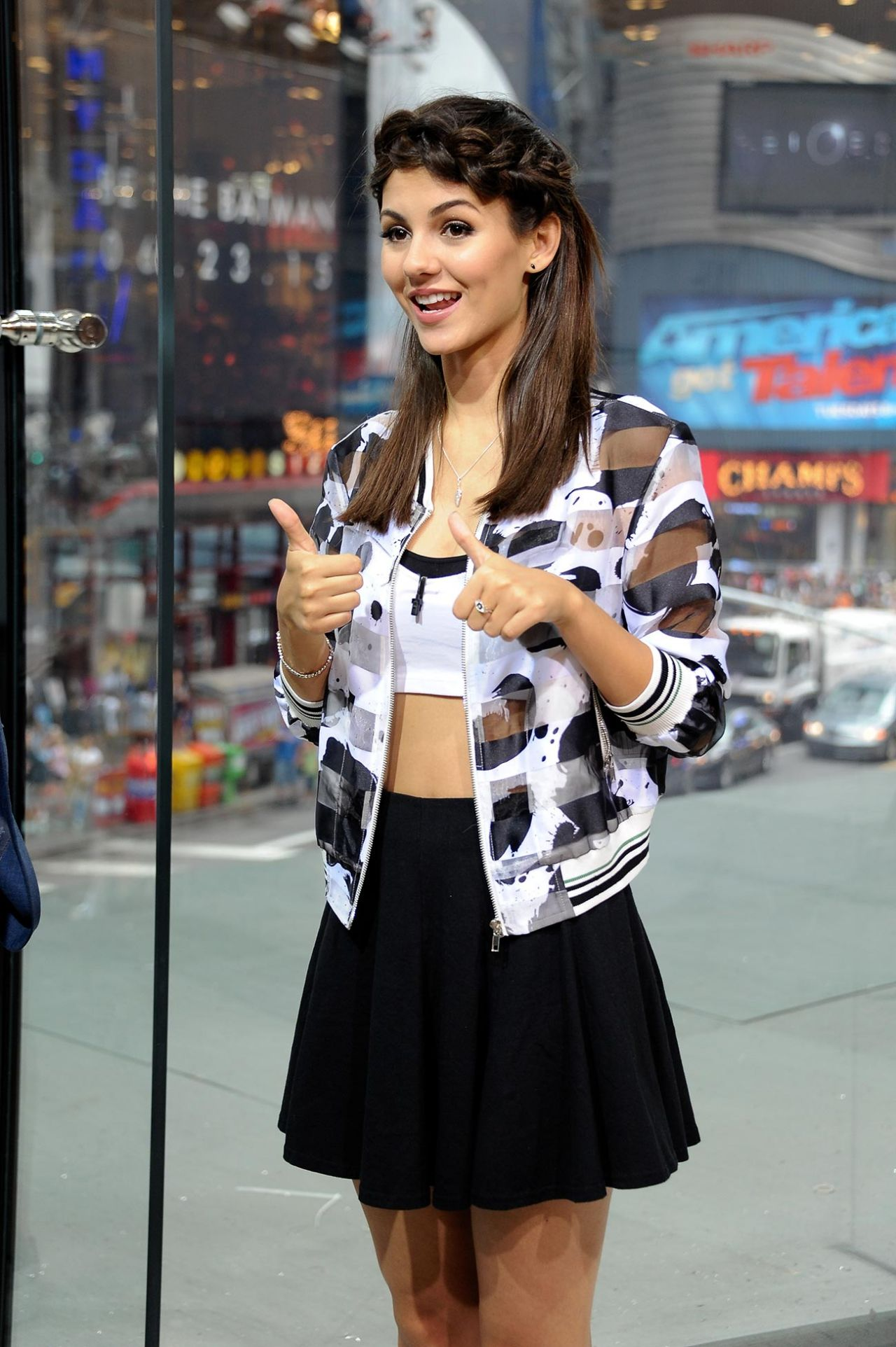 On Set Of 'Extra' In New York City